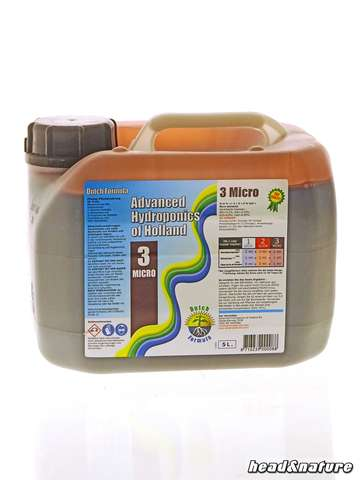 Advanced Hydroponics Dutch Formula 3 - Micro 5L