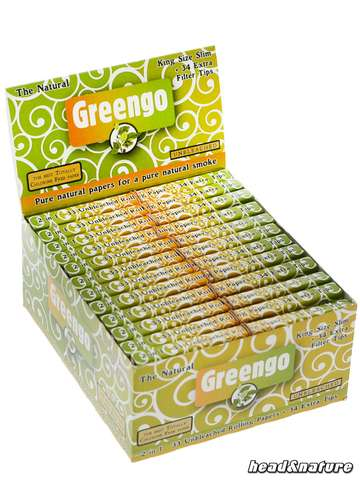 Greengo Papers King Size Slim + Tips - 24 x